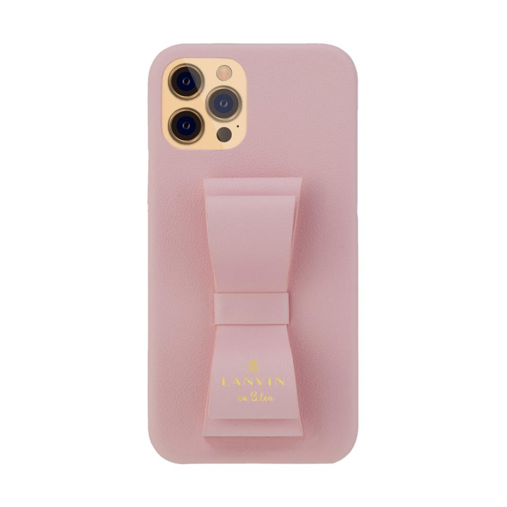 LANVIN en Bleu - Slim Wrap Case Stand & Ring Ribbon for iPhone 12 Pro Max - Sakura Pink