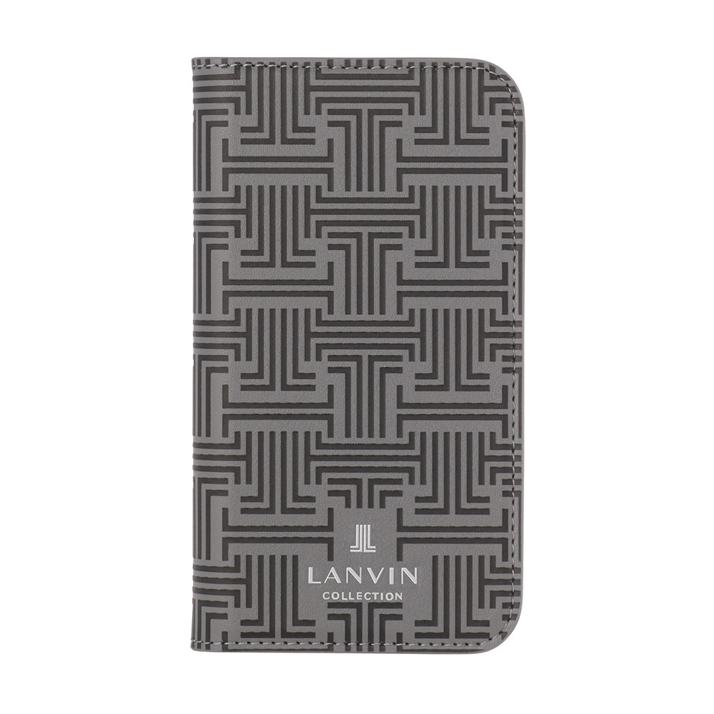 LANVIN COLLECTION - Folio Case Monogram for iPhone 11 Pro - Grey