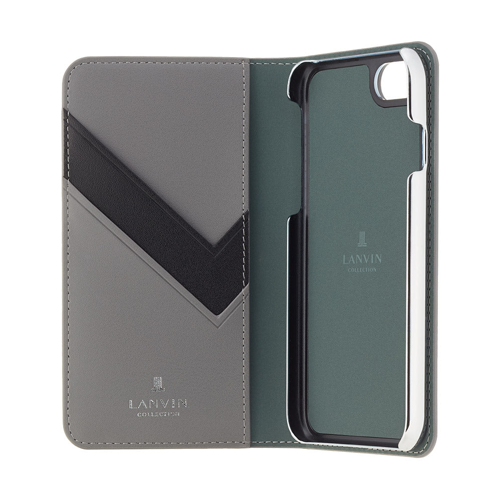 LANVIN COLLECTION - Folio Case Monogram for iPhone SE (第2世代)/ 8 / 7