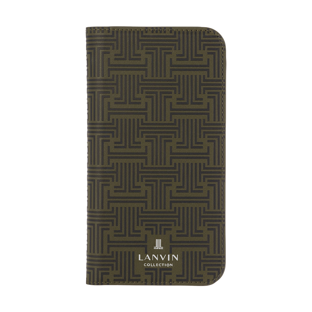 LANVIN COLLECTION - Folio Case Monogram for iPhone SE (第2世代)/ 8 / 7 - Moss Green