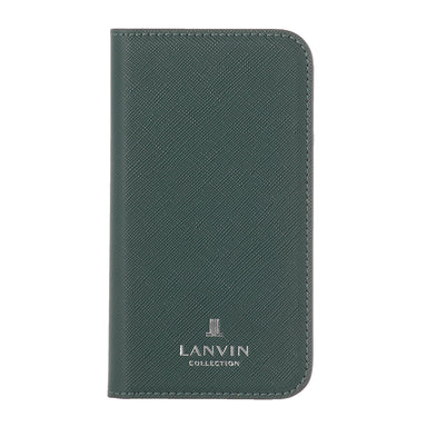 LANVIN COLLECTION - FOLIO CASE SAFFIANO for iPhone 11 - Dark Green