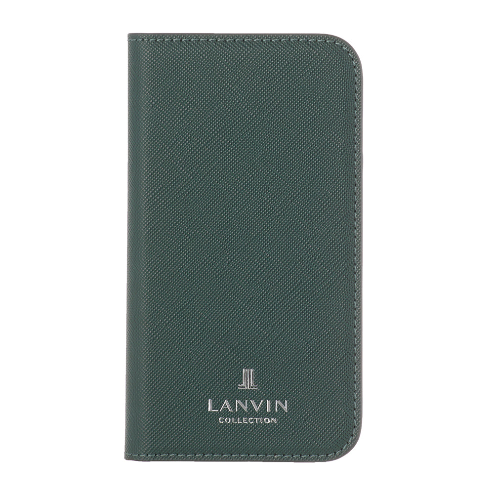 LANVIN COLLECTION - FOLIO CASE SAFFIANO for iPhone 12/12 Pro - Dark Green