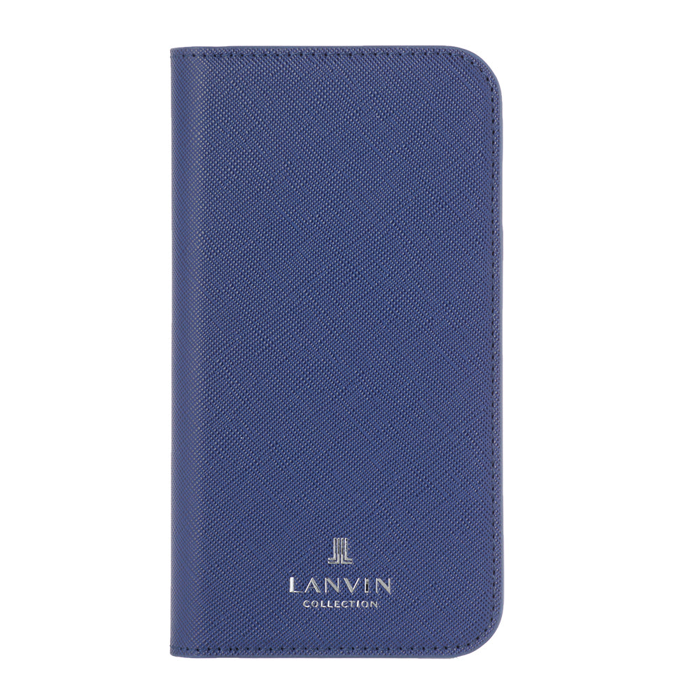 LANVIN COLLECTION - FOLIO CASE SAFFIANO for iPhone 11 - Navy