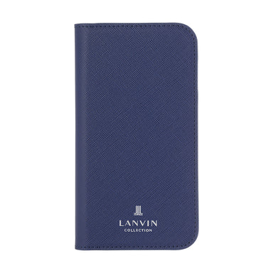 LANVIN COLLECTION - Folio Case Saffiano for iPhone 12 Pro Max - Navy