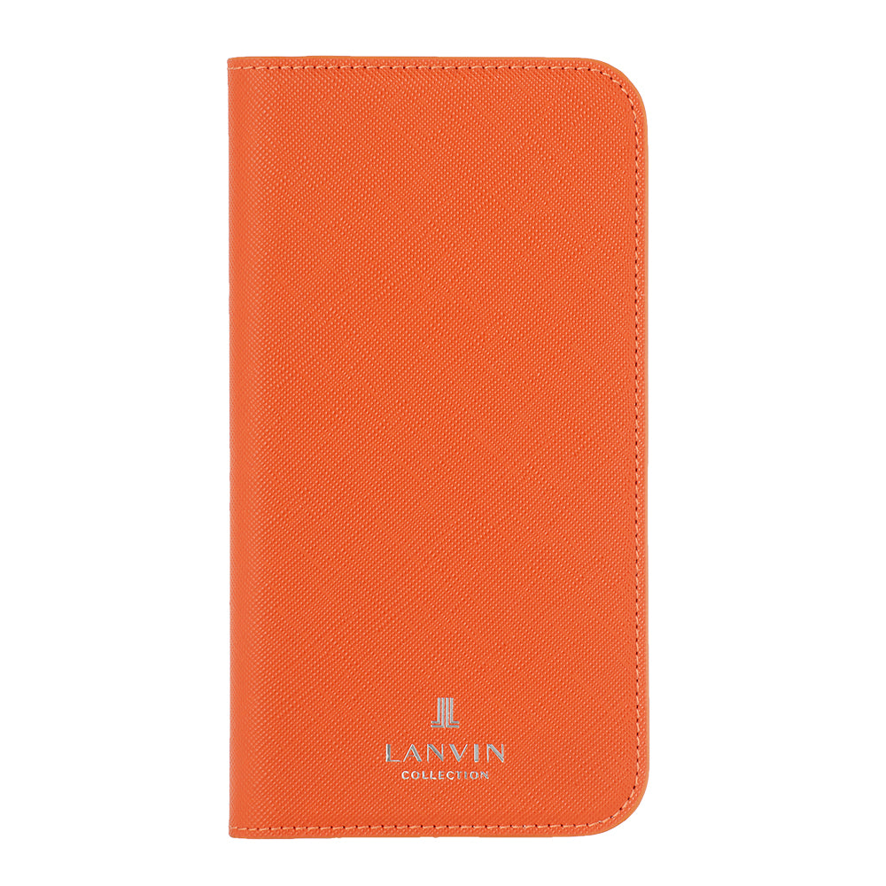 LANVIN COLLECTION - FOLIO CASE SAFFIANO for iPhone 12/12 Pro - Orange