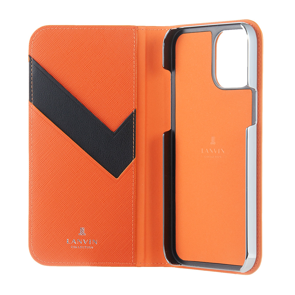 LANVIN COLLECTION - FOLIO CASE SAFFIANO for iPhone 12/12 Pro