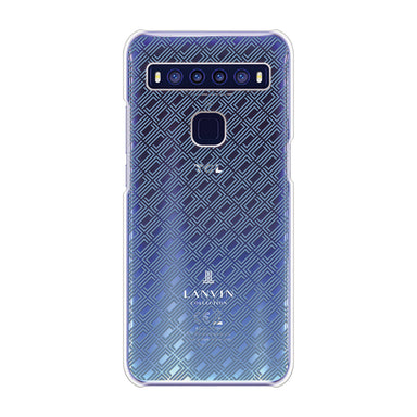 LANVIN COLLECTION - CLEAR CASE SIGNITURE for TCL 10 5G - Blue