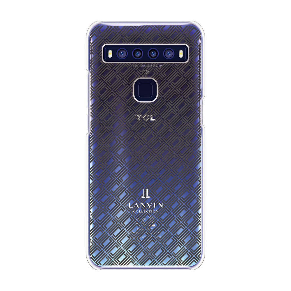 LANVIN COLLECTION - CLEAR CASE SIGNITURE for TCL 10 5G - Dark Gray
