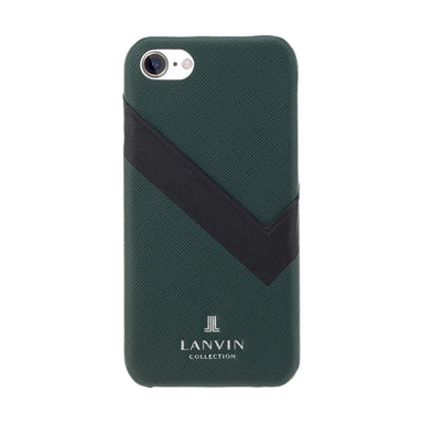 LANVIN COLLECTION - SLIM WRAP CASE SAFFIANO WRAP for iPhone SE - Dark Green