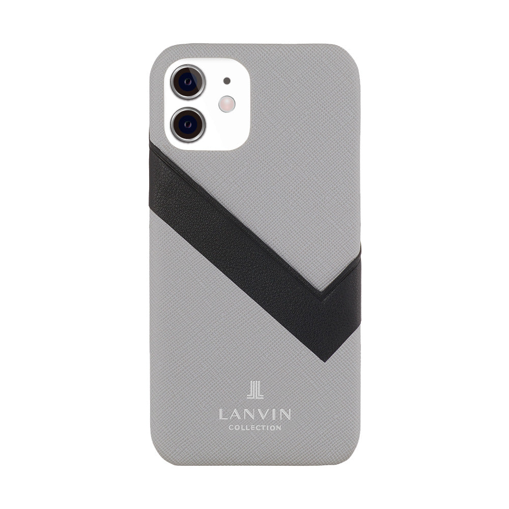 LANVIN COLLECTION - SLIM WRAP CASE SAFFIANO WRAP for iPhone 11 - Light Gray