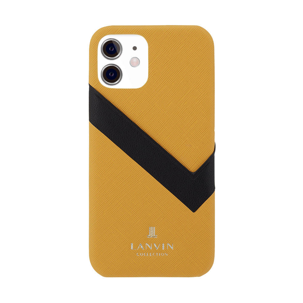 LANVIN COLLECTION - SLIM WRAP CASE SAFFIANO WRAP for iPhone 11 - Yellow