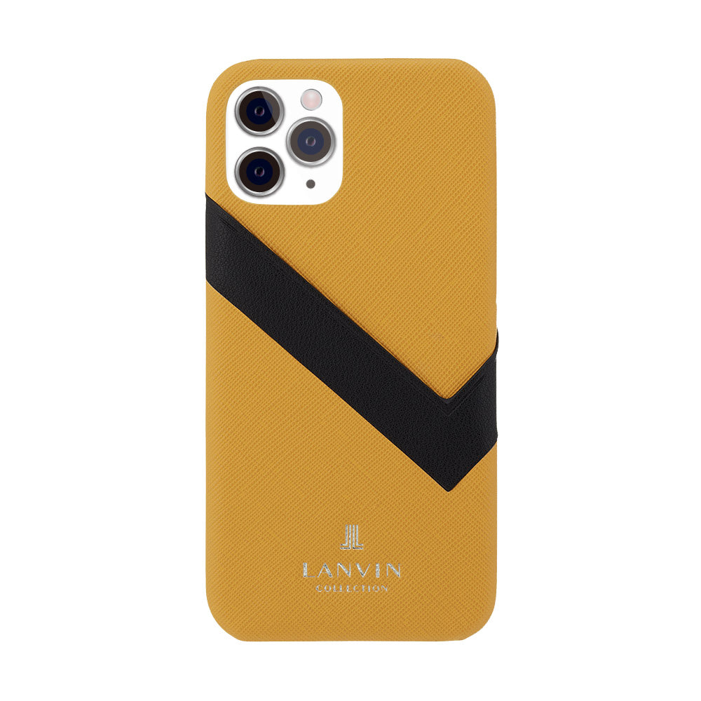 LANVIN COLLECTION - SLIM WRAP CASE SAFFIANO WRAP for iPhone 11 Pro - Yellow