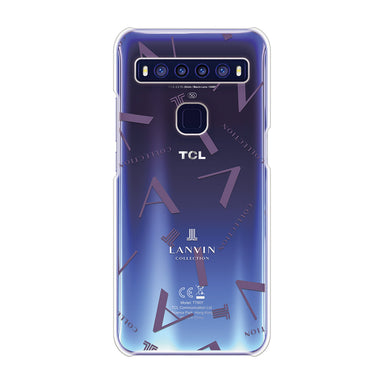 LANVIN COLLECTION - CLEAR CASE TYPOGRAPHY for TCL 10 5G - Deep Purple