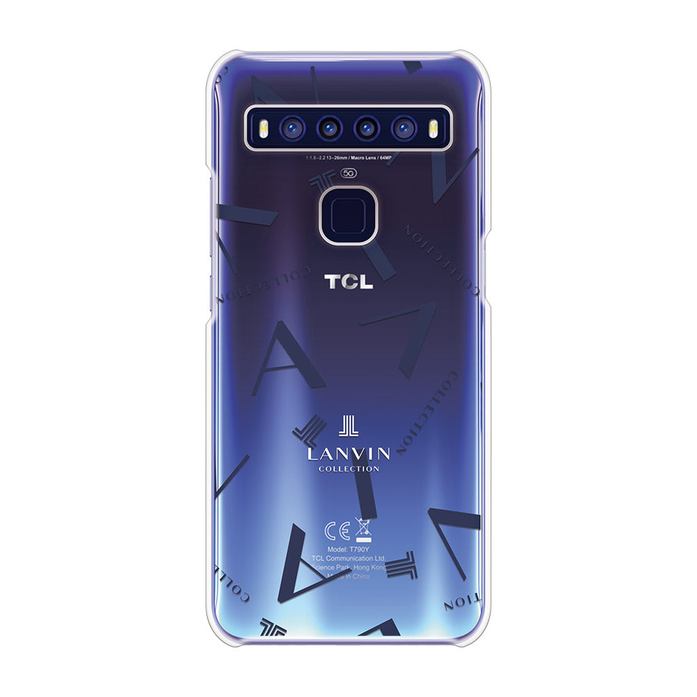 LANVIN COLLECTION - CLEAR CASE TYPOGRAPHY for TCL 10 5G - Dark Navy