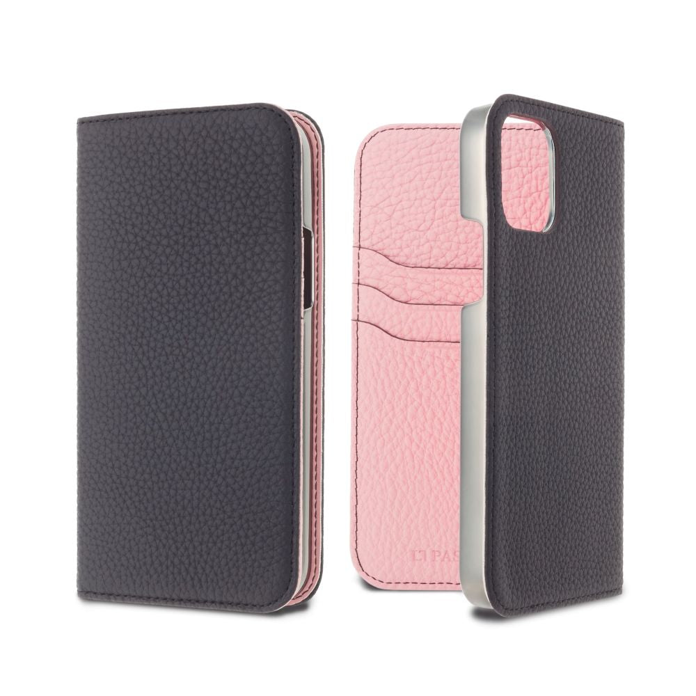 LORNA PASSONI - German Shrunken Calf Folio Case for iPhone 11