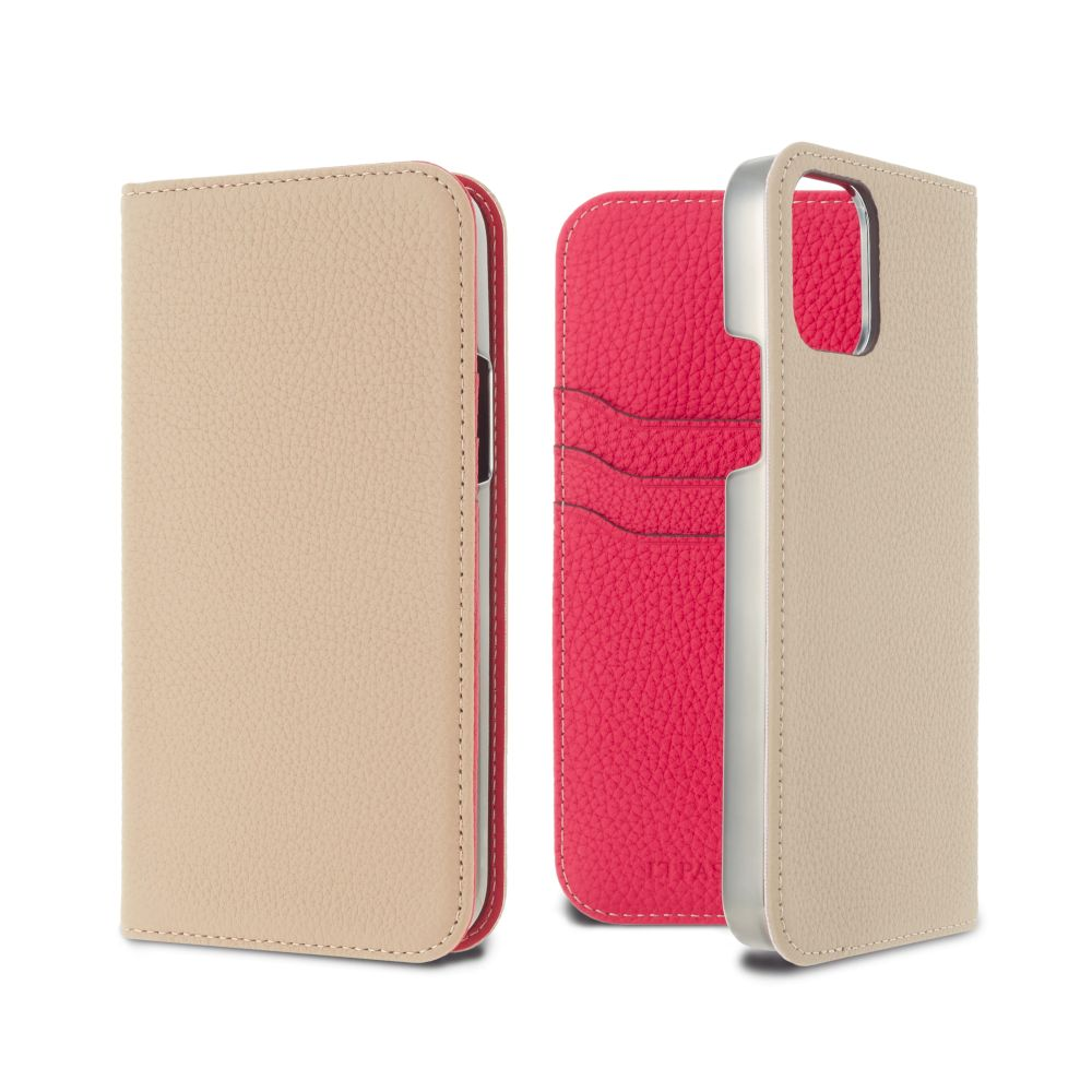 LORNA PASSONI - German Shrunken Calf Folio Case for iPhone 12 Pro Max