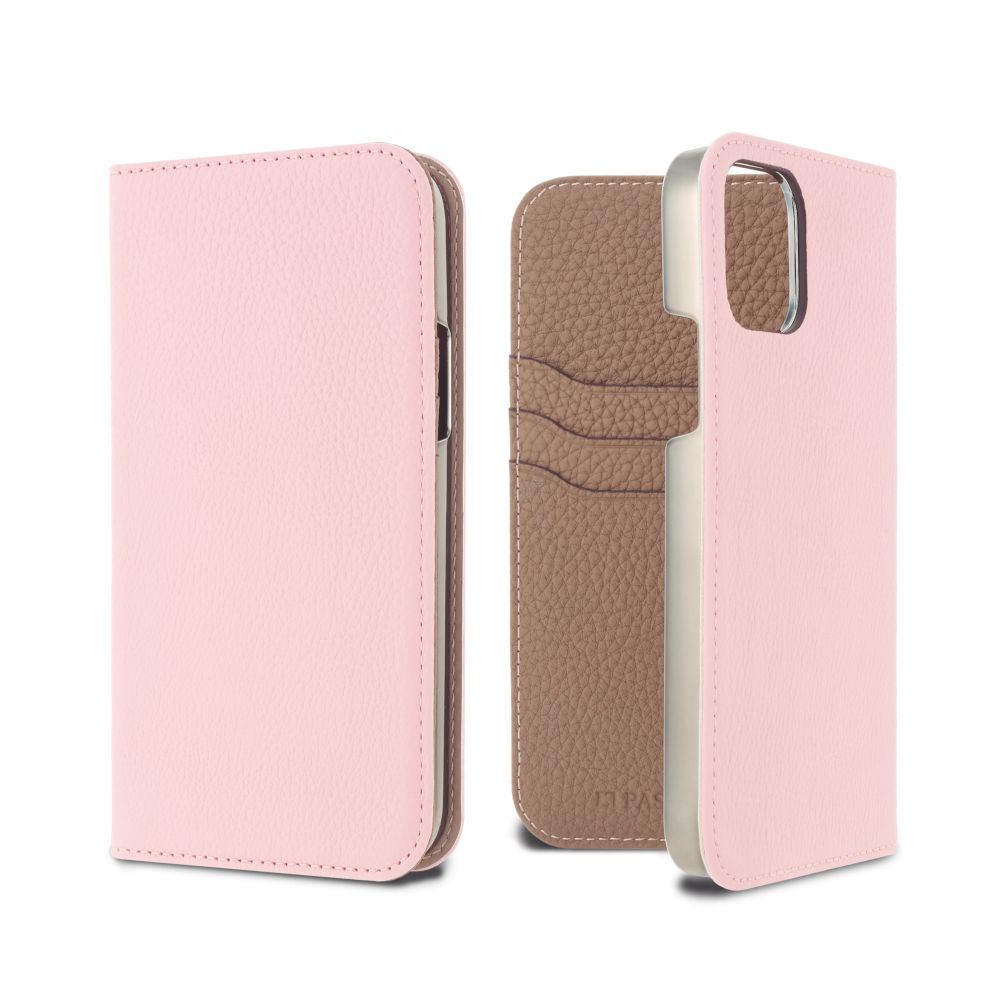 LORNA PASSONI - German Shrunken Calf Folio Case for iPhone 11 Pro