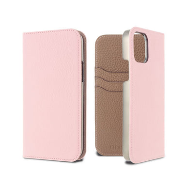 LORNA PASSONI - German Shrunken Calf Folio Case for iPhone 12 mini