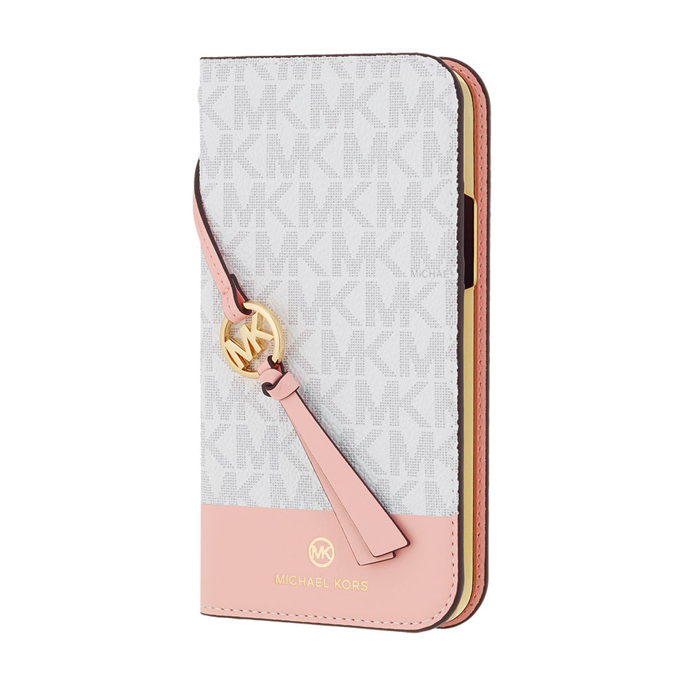 MICHAEL KORS - FOLIO CASE 2 TONE with TASSEL CHARM for iPhone 12 mini