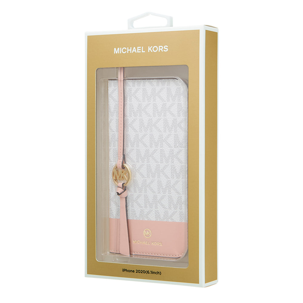 MICHAEL KORS - FOLIO CASE 2 TONE with TASSEL CHARM for iPhone 12/12 Pro