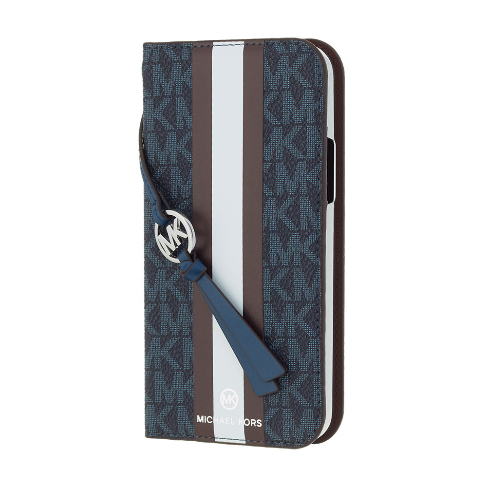 MICHAEL KORS - FOLIO CASE STRIPE with TASSEL CHARM for iPhone SE