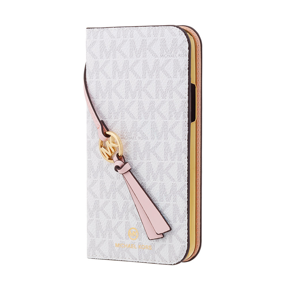 MICHAEL KORS - FOLIO CASE SIGNATURE with TASSEL CHARM for iPhone 12 mini
