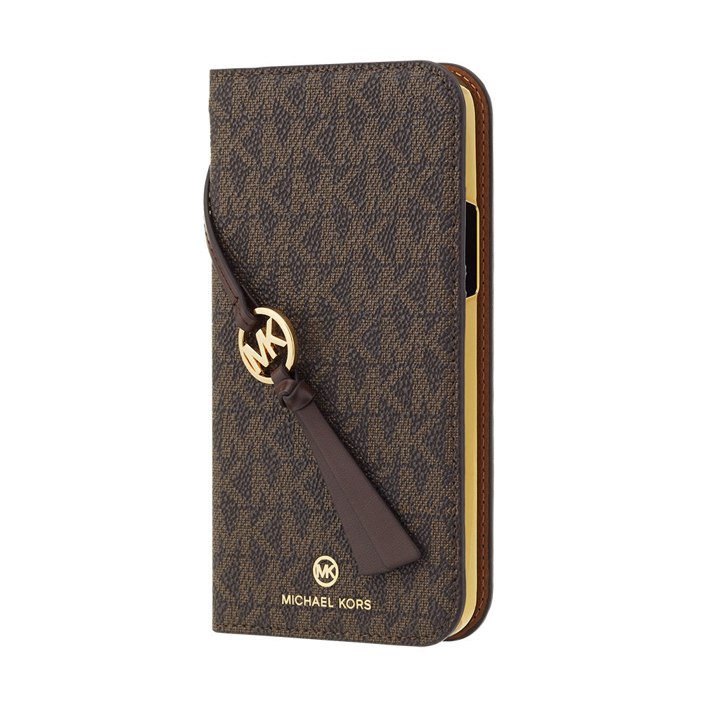 MICHAEL KORS - FOLIO CASE SIGNATURE with TASSEL CHARM for iPhone 12/12 Pro