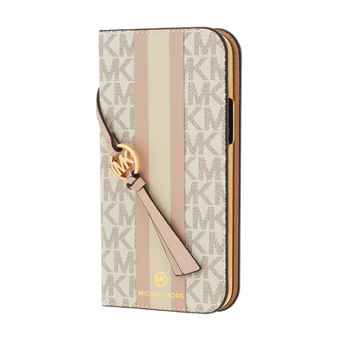 MICHAEL KORS - Folio Case Stripe with Tassel Charm for iPhone 12 Pro Max