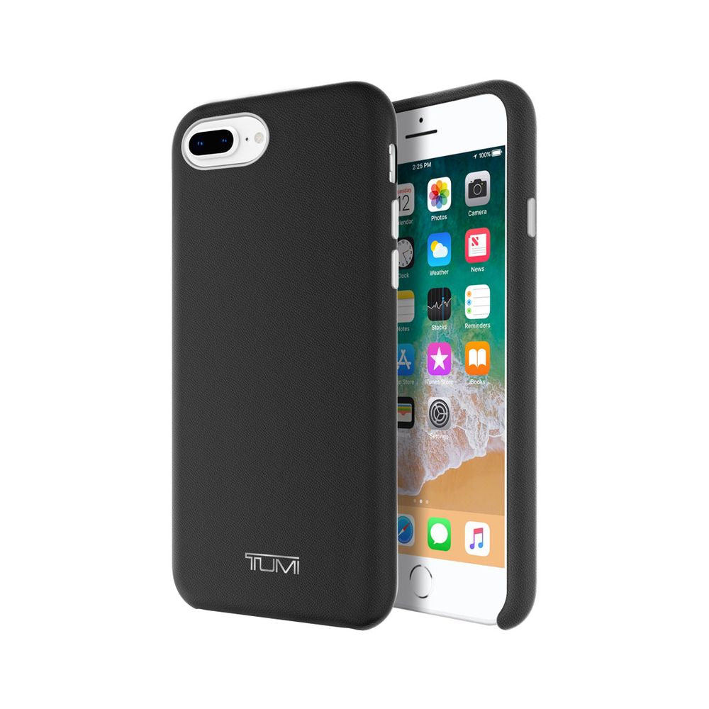 TUMI - Leather Wrap Case For iPhone 8 Plus & iPhone 7 Plus - Black