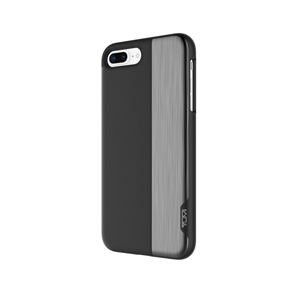 TUMI - Vertical Slider Case For iPhone 8 Plus - Black/Gunmetal