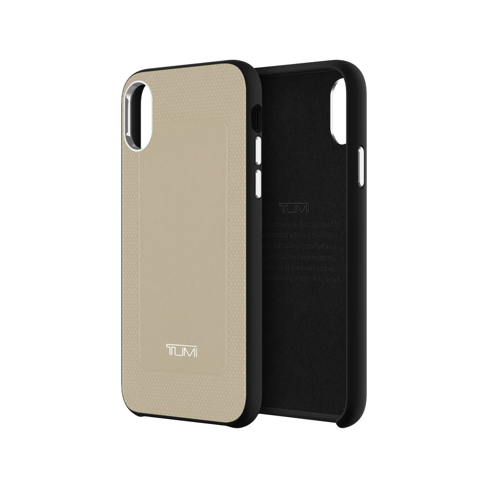 TUMI - Protective Co-Mold Case for iPhone XS - Grey Leather