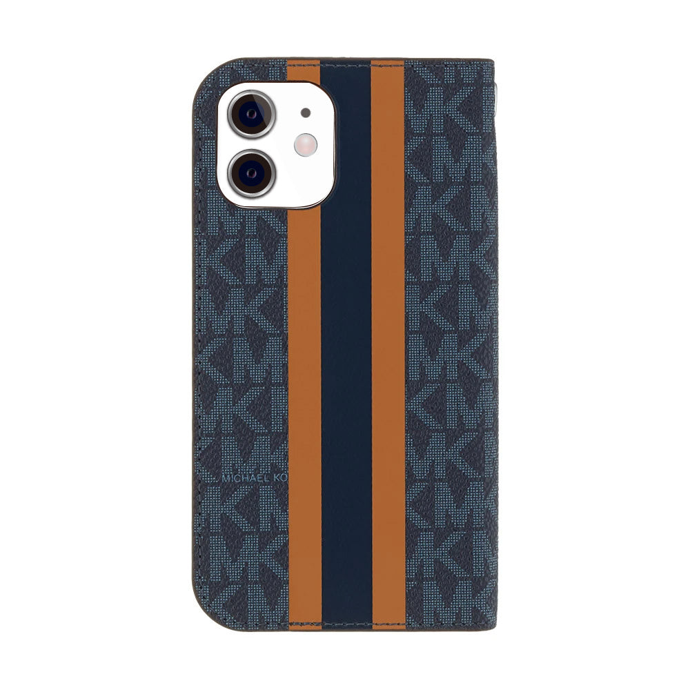 MICHAEL KORS - FOLIO CASE STRIPE with TASSEL CHARM for iPhone 11