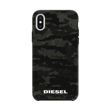 DIESEL - Printed Co-Mold Soft Touch Pixelated Case Camo Black for iPhone XS/X - caseplay