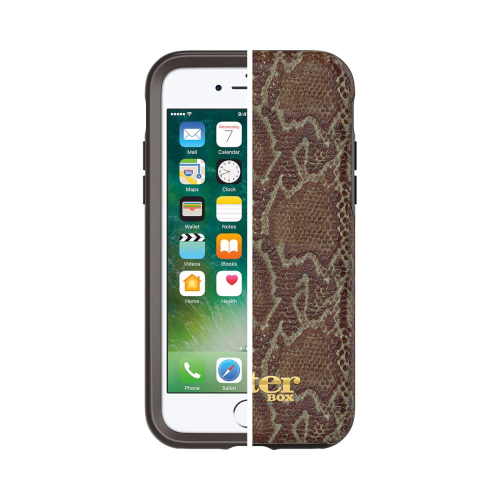 OtterBox - Symmetry Leather Edition For iPhone SE 第2世代/8/7 - Wooded Serpent W/ Alpha Glass