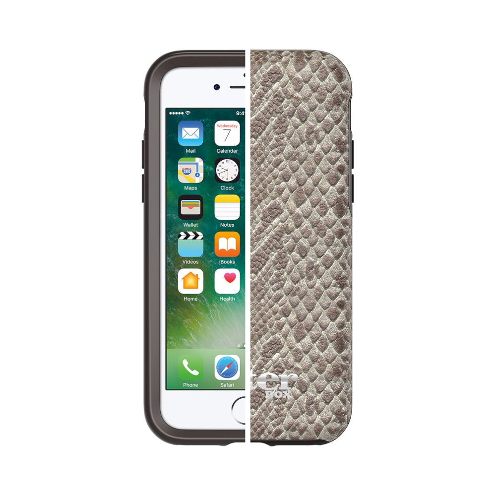 OtterBox - Symmetry Leather Edition For iPhone SE 第2世代/8/7 - Stone Serpent W/ Alpha Glass