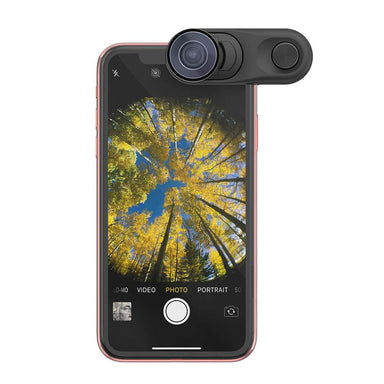 olloclip - Fisheye + Macro Essential and Super-Wide Essential for iPhone XR - caseplay