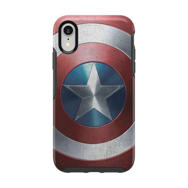 OtterBox - SYMMETRY Captain America for iPhone XR [ Captain America Shield ] - FOX STORE