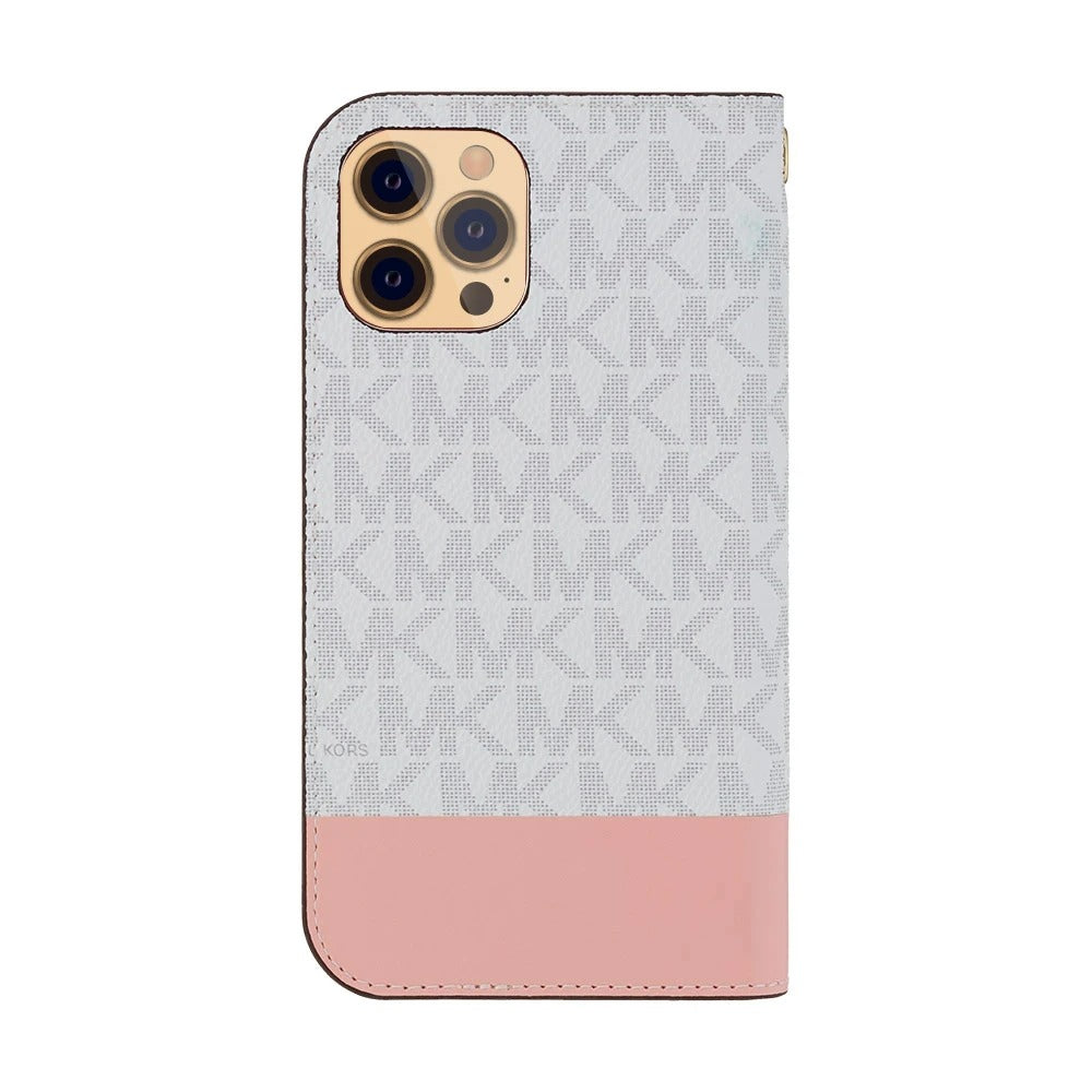 MICHAEL KORS - Folio Case 2 Tone with Tassel Charm for iPhone 12 Pro Max