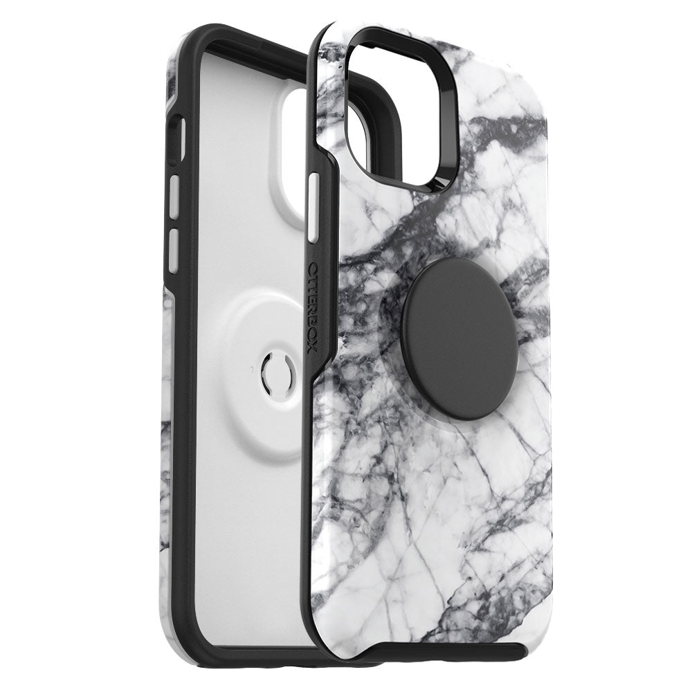 OtterBox - Otter + Pop Symmetry Series for iPhone 12 mini - WHITE MARBLE