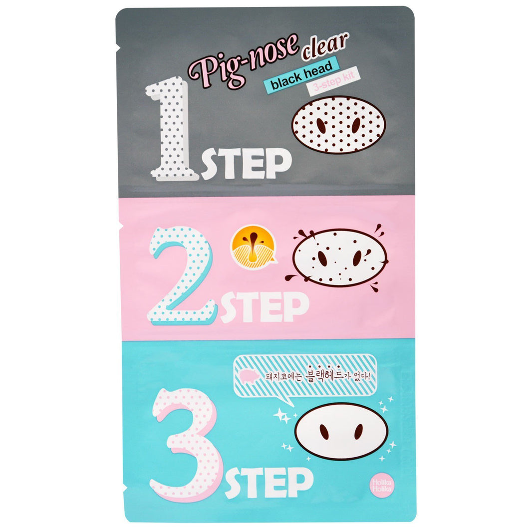 Holika Holika - Pig Nose Clear Blackhead 3-Step Kit - Pibu Story BTS