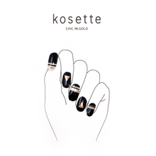 Load image into Gallery viewer, Kosette Gel Nail Sticker Chic in Gold - Pibu Story BTS