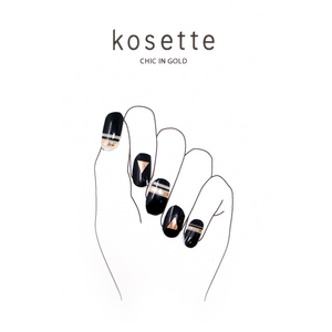 Kosette Gel Nail Sticker Chic in Gold - Pibu Story BTS