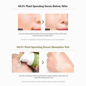 So Natural - 46.9% PLANT SPROUTING ENRICH SERUM - Pibu Story BTS