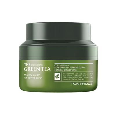 TONYMOLY - The Chok Chok Green Tea Watery Cream - Pibu Story BTS