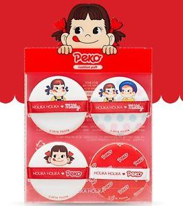 Hard Cover Cushion Puff Set 4P (Sweet Peko Limited Edition) - Pibu Story BTS