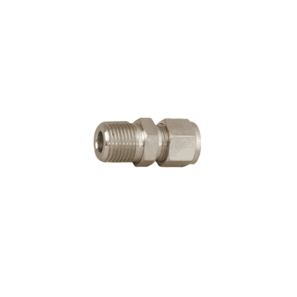 "Parker 3/8"" Tube x 1/4 MNPT Straight Connector (double ferrule) - American CNG"