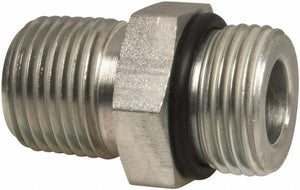 "1/4"" NPT Male to #6 SAE Male Straight Adapter - American CNG"