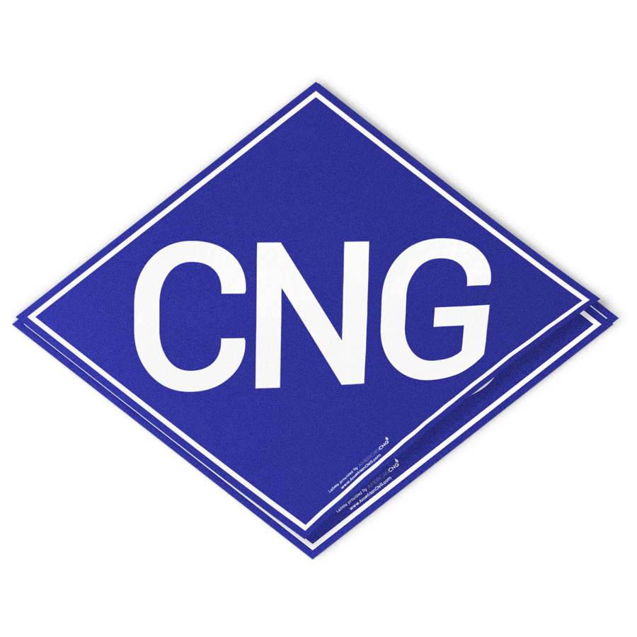 Heavy Duty Reflective CNG Decal - American CNG