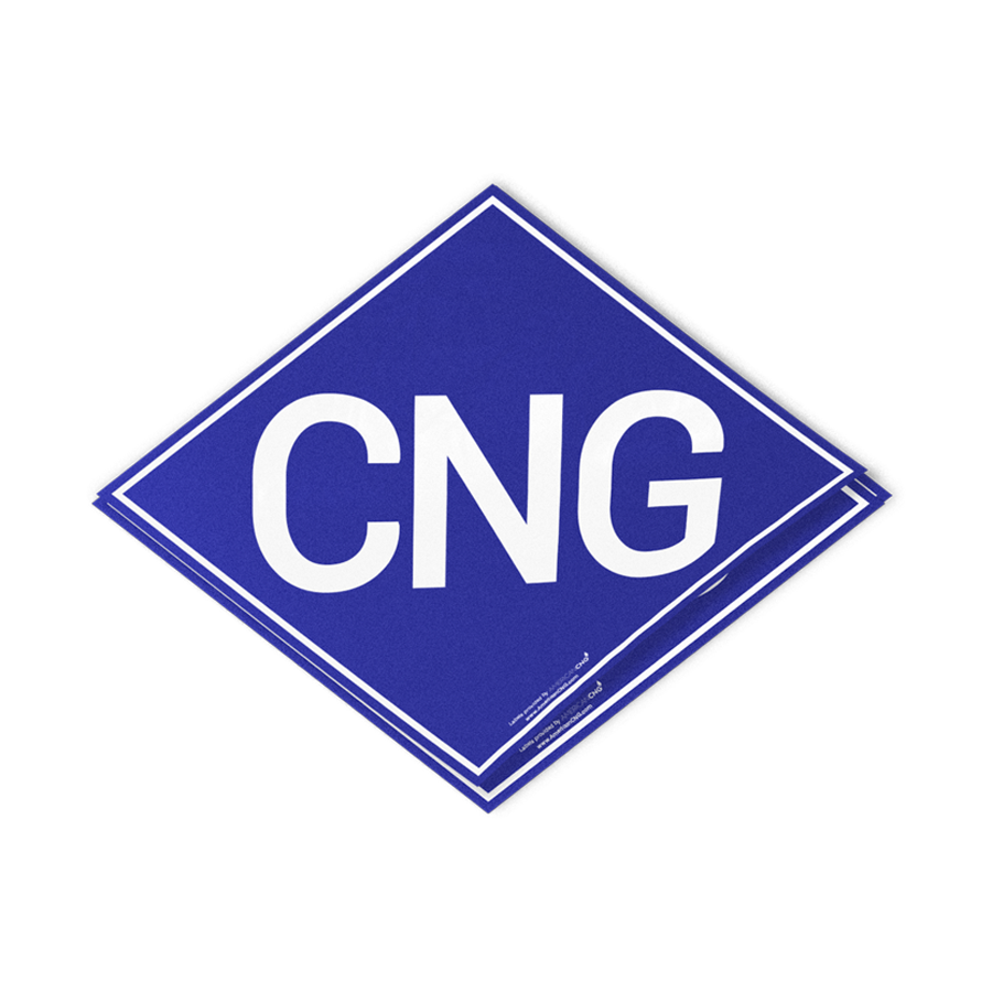 Light Duty Reflective CNG Decal - American CNG