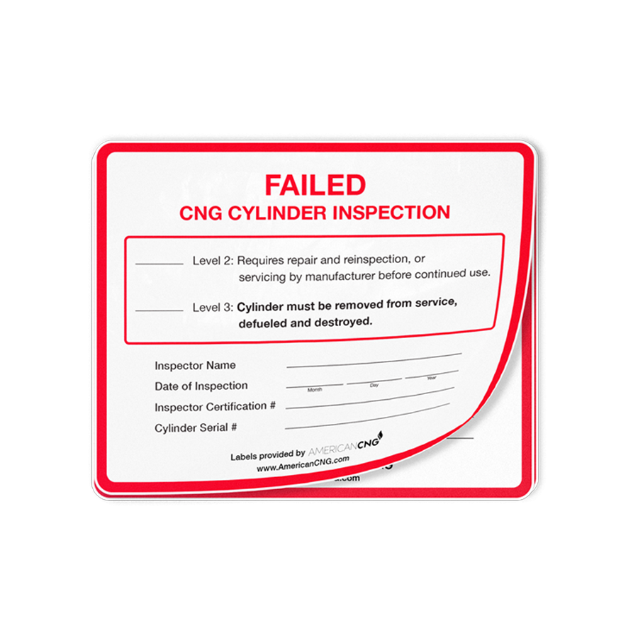 Failed Cylinder Inspection Decal - American CNG